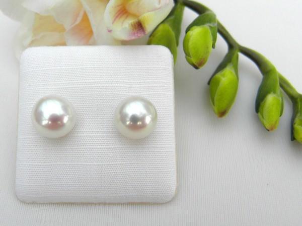 Süßwasserperlen Ohrstecker Perlen Ohrringe, Bouton Prlen Ohrstecker AAAA 2984