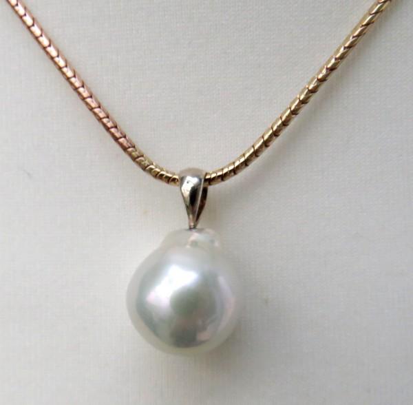 Süßwasser Mingperlen Anhänger Unikat Perlen Anhänger handgefertigt 4476