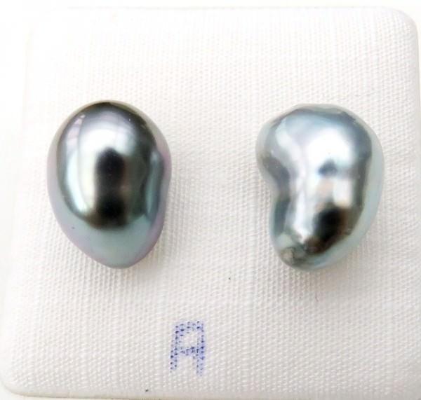 Tahiti Perlen Ohrringe Sterlingsilber handgefertigt 4176