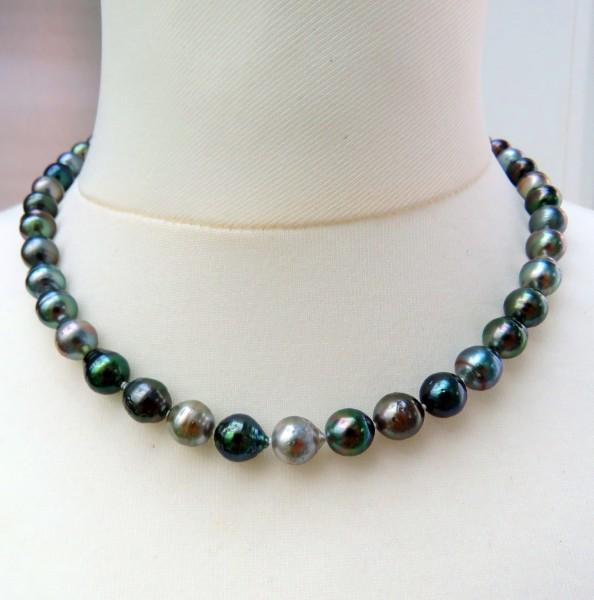 Tahiti Perlen Kette Unikat Perlen Kette Tahiti Perlen Collier 7,7 - 8,5 mm 4625