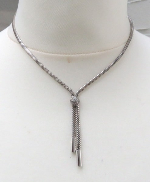 Silber Kette Sterlingsilber rhodiniert Zirkonia Halskette SCHNÄPPCHEN 3944