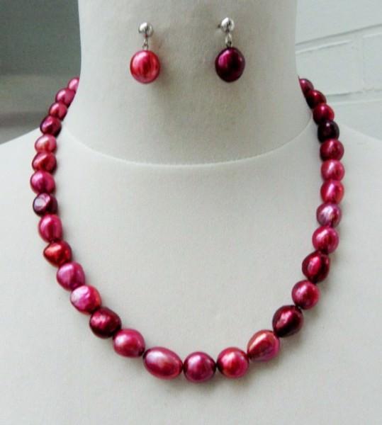 Süsswasser Perlen Set 3305 Totalansicht