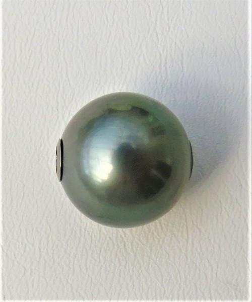 Tahiti Perlen Wechselschließe 14 mm Unikat Perlen Anhänger Kettenschließe 4825