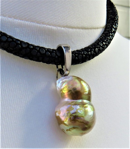 Ming Perlen Anhänger Unikat Perlen Varioclip Anhänger Ming Perle 40 ct 4860