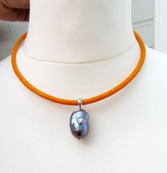Perlen Anhänger Süßwasser Perlen Anhänger Ming Perlen Unikat Anhänger 4491