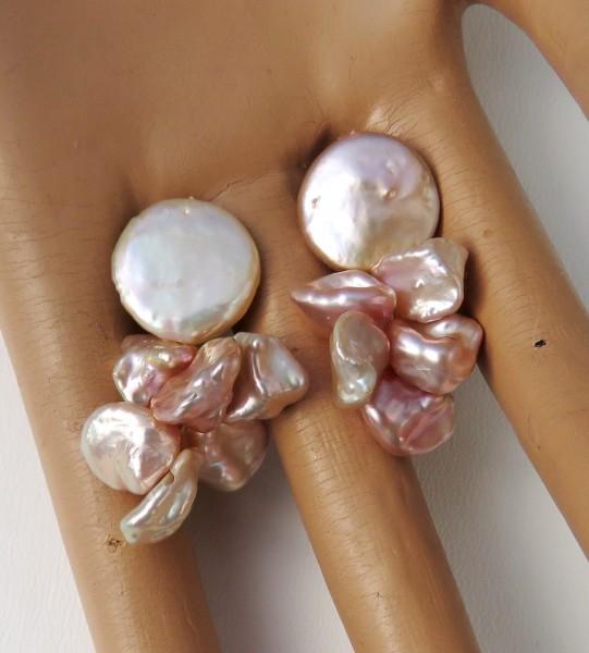Keshi Perlen Ohrringe Perlen Unikat Ohrringe handgefertigt 4426