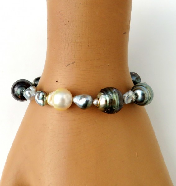 Südsee Tahiti Naturkeshi Perlen Armband Perlen Armband Tahiti handgefertigt 4669