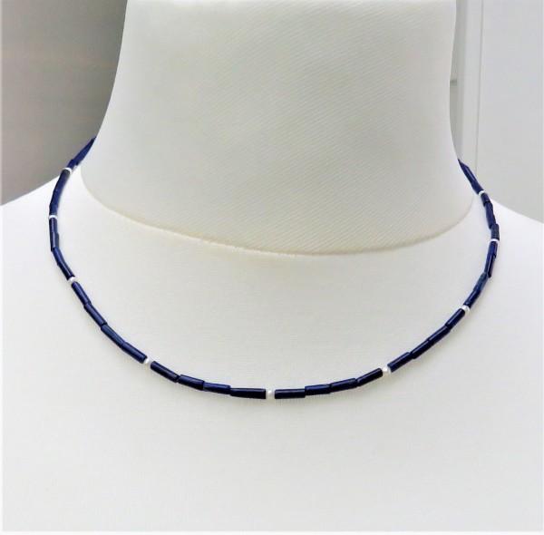 Lapis Lazuli Kette Edelstein Kette Perlen Unikat Kette Lapis Perlen Kette 4892