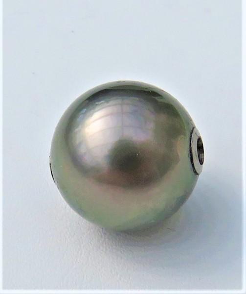 Tahiti Perlen Wechselschließe 14 mm Unikat Perlen Anhänger handgefertigt 4801