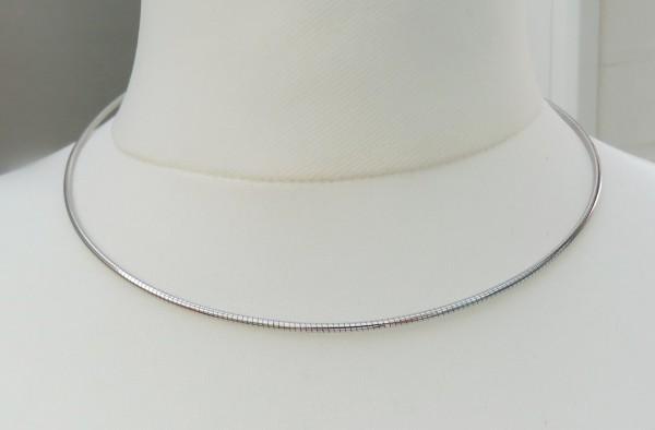 Halsreif Omega Silber und Silber rhodiniert 3211