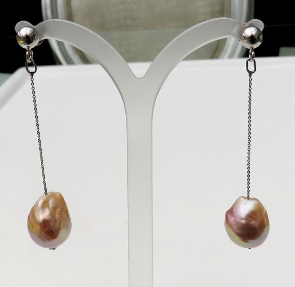 Ming Perlen Ohrringe Süßwasser Perlen Ohrringe Unkat Perlen Ohrringe 4502