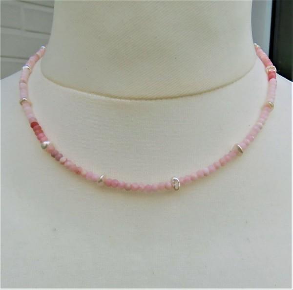 Pink Opal Keshi Perlen Kette Anden Opal Kette Keshiperlen Opal Unikat Kette 4843