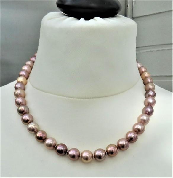 Perlen Kette Minge Perlen Kette Süßwasser Perlen Unikat Perlen Collier 4775