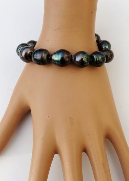 Tahiti Perlen Armband Tahiti Tropfen Perlen barock Unikat Perlen Armband 4737