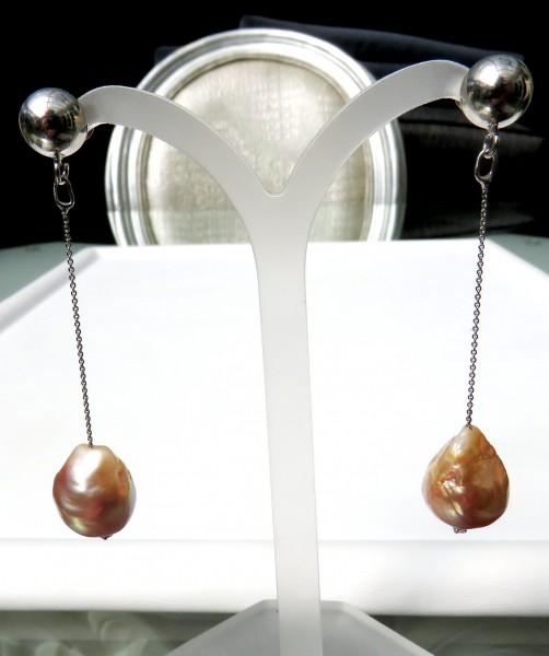 Ming Perlen Ohrringe Süßwasser Perlen Ohrringe Unikat Perlen Ohrringe 4578