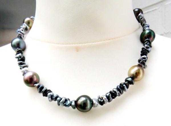Tahitiperlen Natur Keshi Collier Tahiti Perlen Kette 3960