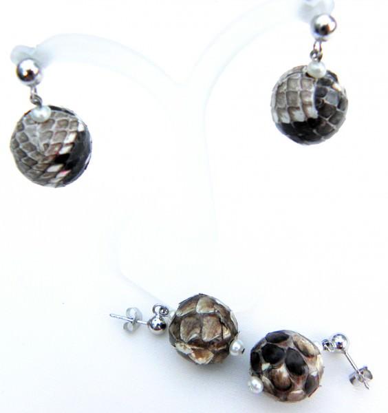 Süßwasserperlen Python Ohrringe 3104