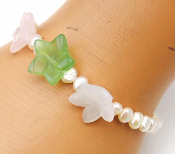 Süßwasser Perlen Armband mit Edelsteinen Kinder Armband 4400