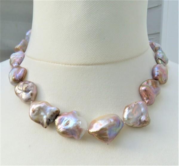 Keshi Perlen Kette Perlen Kette Keshi Natur Perlen Unikat Kette Keshikette 4780
