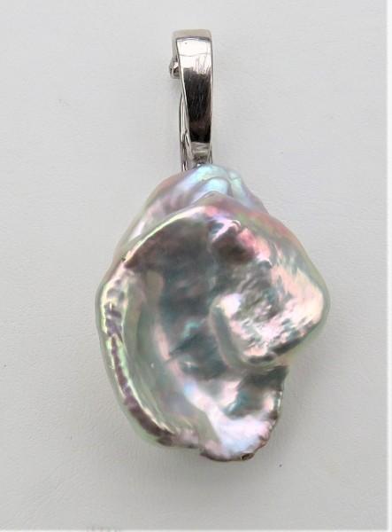 Keshi Perlen Anhänger Süßwasser Perlen Unikat Anhänger Varioclip Sterling 4771