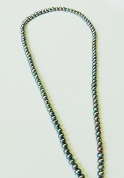 Süßwasserperlen rund gefärbt AAA 4,5-5mm Strangware L0028