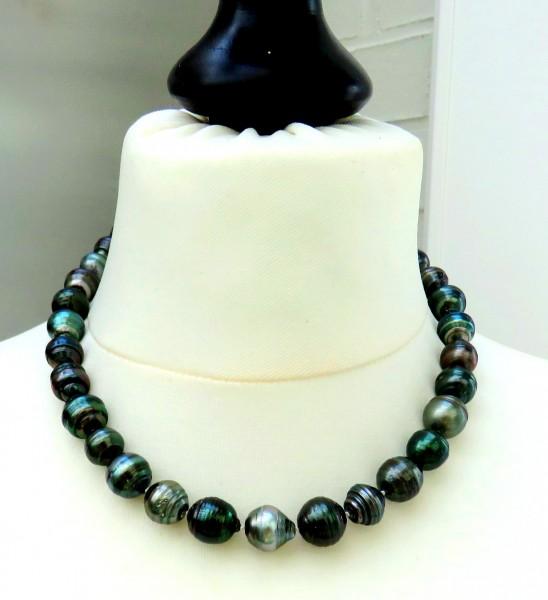 Tahiti Perlen Kette Unikat Perlen Kette Tahiti Perlen Collier 11-13,7 mm 4711