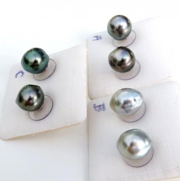 Tahitiperlen Ohrringe Perlen Ohrringe Tahiti Perlen Ohrstecker Silber 3993 A bis C