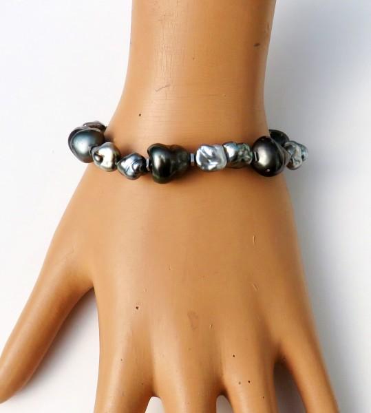 Tahiti Perlen Armband Tahiti Keshi Perlen Armband Unikat Perlen Armband 4628