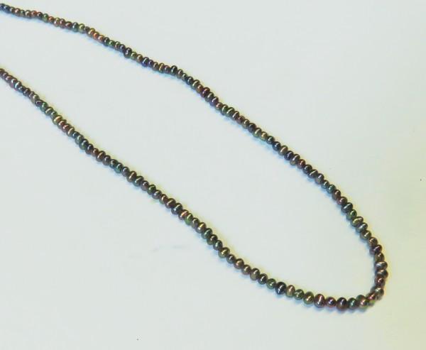 Süßwasserperlen kernlos rundlich Strangware Perlen Strang L0013