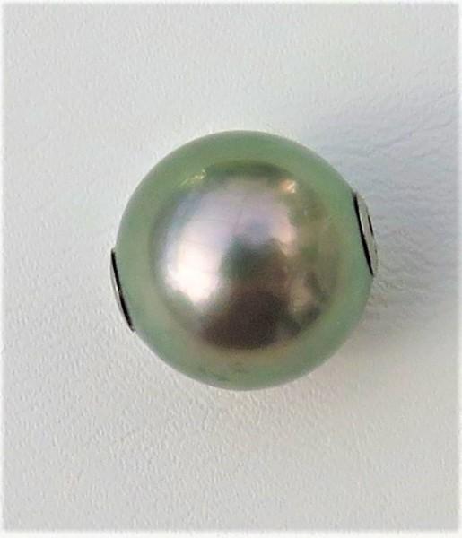 Tahiti Perlen Wechselschließe 13 mm Unikat Perlen Anhänger Kettenschließe 4915