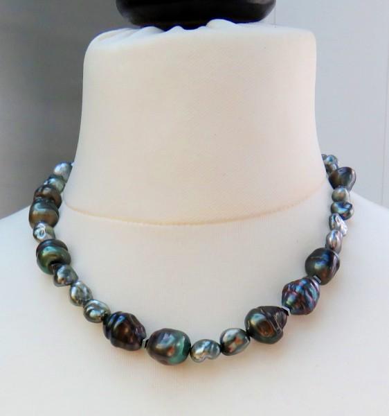 Tahiti Keshi Perlen Kette Keshi Perlen Unikat Kette Tahiti Perlen Collier 4627