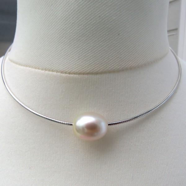 Südsee Perle Omega Reif Silber rhodiniert Unikat Perlen Schmuck handgefertigt 4750