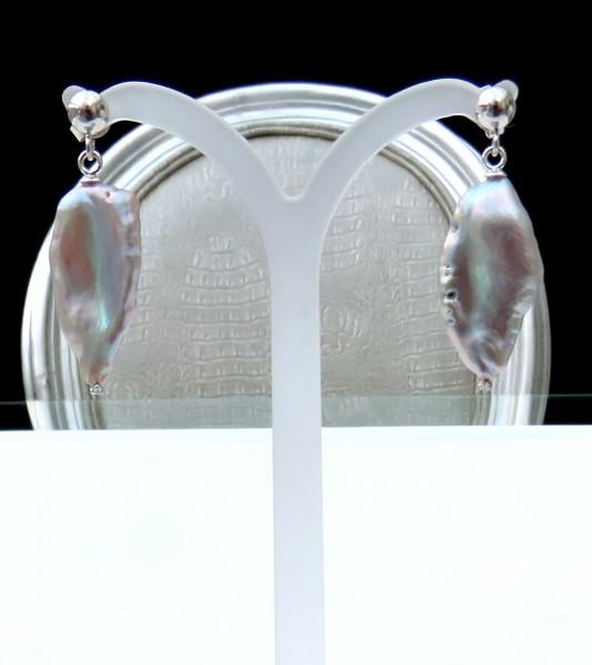 Perlen Ohrringe Biwa Perlen Ohrringe Süßwasser Perlen Unikat Ohrringe 4690